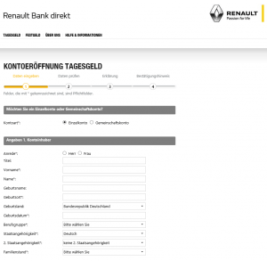 Tagesgeld bei der Renault Bank direkt 2