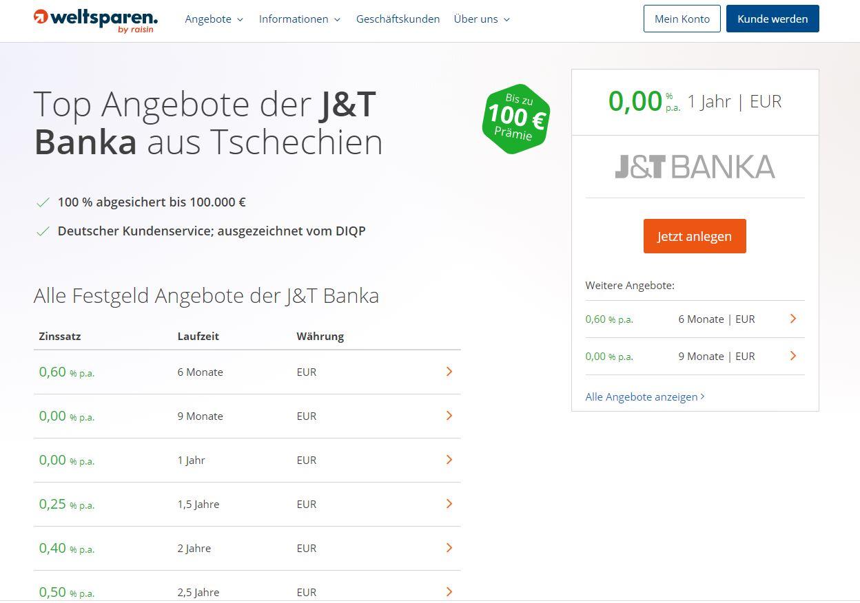 J&T-banka-startseite