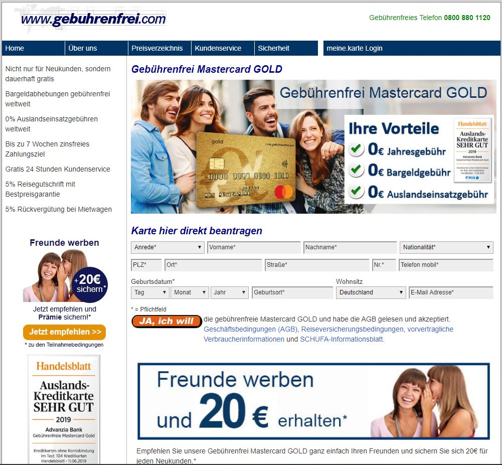 advanzia-mastercard-gold
